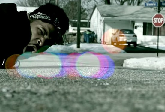 "SCREENSHOT FROM THE VIDEO FOR THE DOMINO EFFECT'S ""PROBLEMZ"""