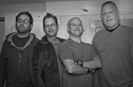 Shark Dad is Jason Robinson, Paul Krash, Shawn Manny and Richard Renz. Not pictured: Erik Hahn. - SHAWN MANNY