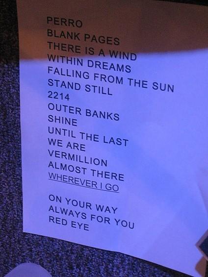 Album Leaf setlist - DIANA BENANTI