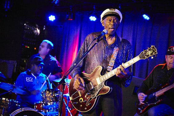 Chuck Berry plays his 200th Blueberry Hill show on Wednesday, January 15. - STEVE TRUESDELL FOR RFT