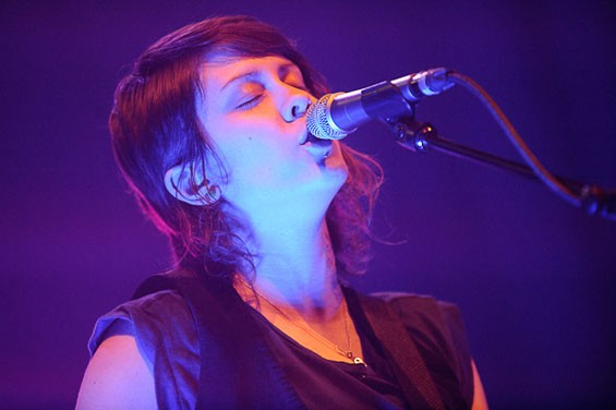 Tegan of Tegan and Sara last night at the Pageant. See full slideshow here. - PHOTO: TODD OWYOUNG