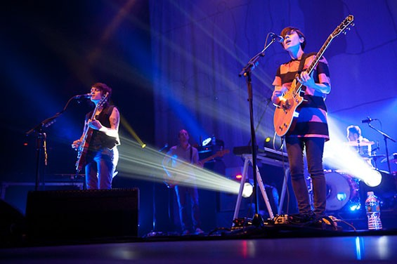 Tegan and Sara last night at the Pageant. See full slideshow here. - PHOTO: TODD OWYOUNG