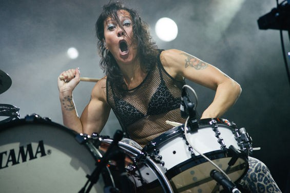 Kim Schifino of Matt and Kim. See more photos here. - BRYAN SUTTER