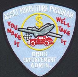 The motto and emblem of the DEA's asset forfeiture program. - IMAGE VIA
