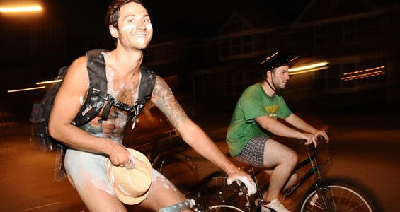 A participant in last year's St. Louis World Naked Bike Ride. See more photos from last year's World Naked Bike Ride in St. Louis. - PHOTO: EGAN O'KEEFE
