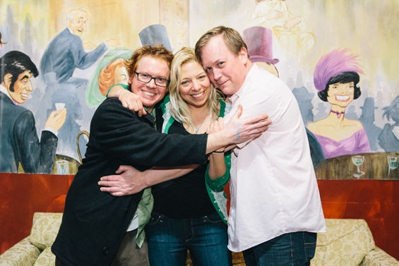 Eric Von Damage, Karen Reid and Matt Harnish, a.k.a. Bunnygrunt, the reason for the season. - THEO WELLING