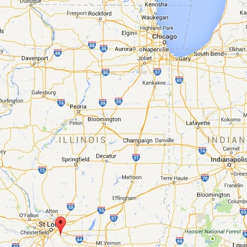 That marker there right next to St. Louis? That's Belleville.