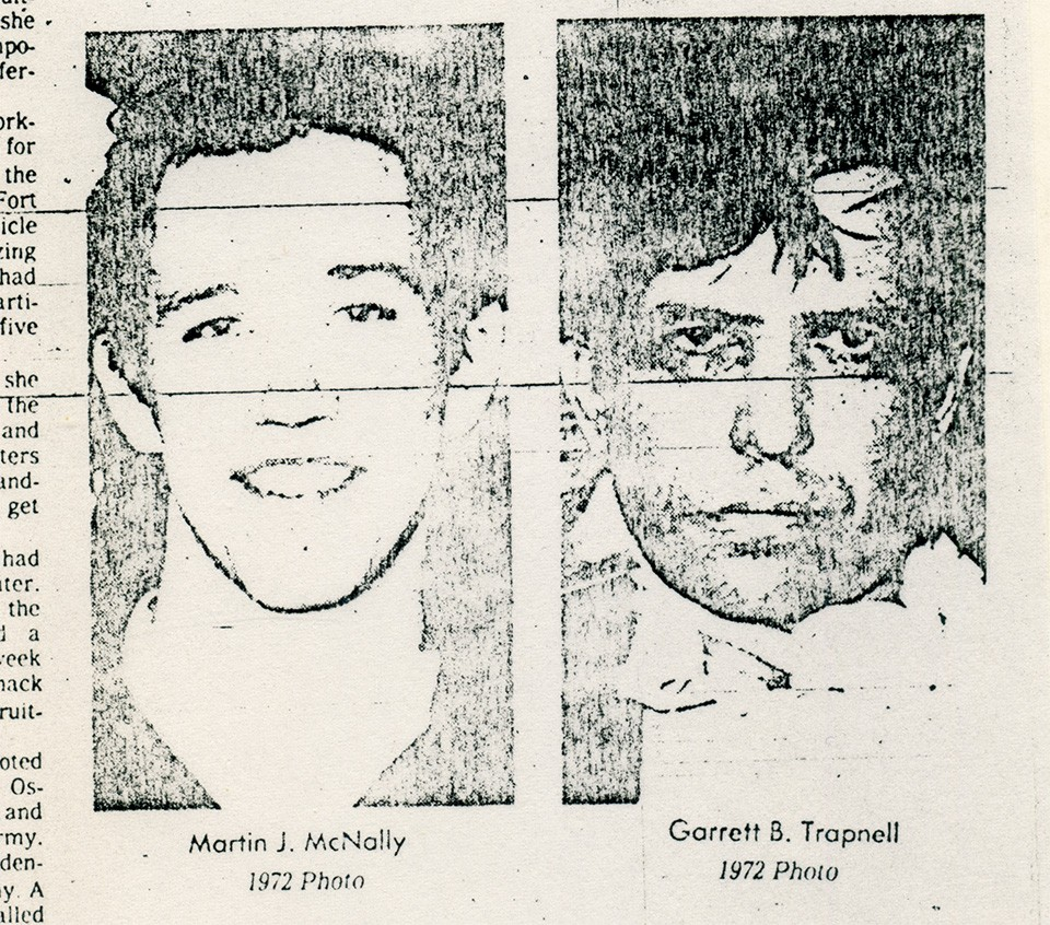 Martin McNally and Garrett Trapnell were each arrested in 1972 after failed skyjacking attempts. In prison, they became accomplices.