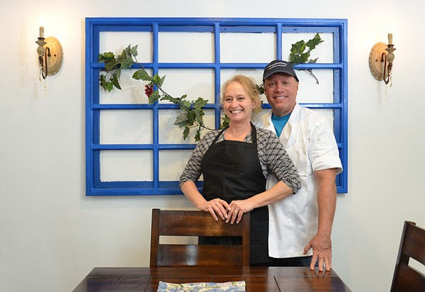 Lisa Nicholas and Joe Kandel are co-owners of Greek Kitchen. The pair are also engaged. - TOM HELLAUER