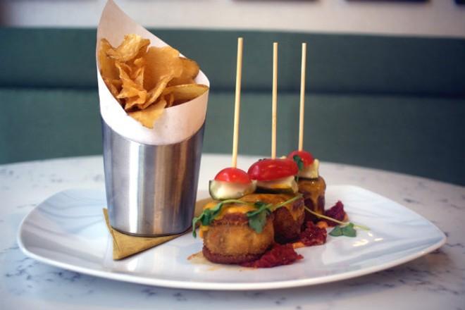 """Grand Tavern by David Burke's """"Ritz Crabcake Ham and Cheese Sliders."""" - CHERYL BAEHR"""