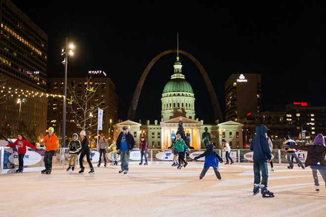 This is a rink with an unparalleled view. - COURTESY GATEWAY ARCH PARK FOUNDATION