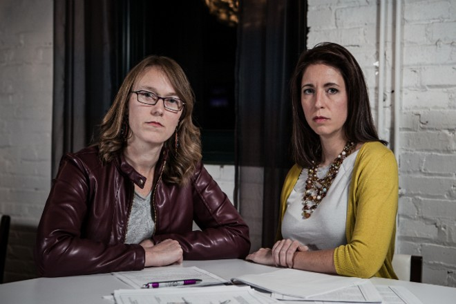 Rebecca (left) and Angela are two of the women threatened by Robert Merkle. - COURTESY OF CASEY OTTO