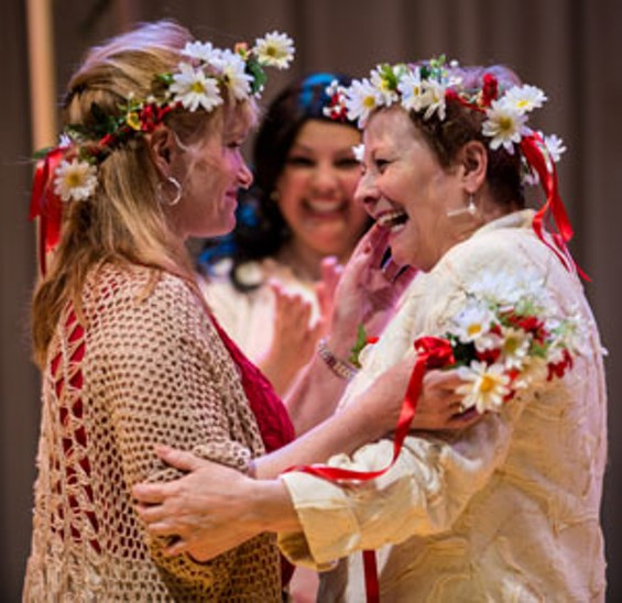 Jane (Sharn) and Claire (Ackermann), newly hitched. - ERIC WOOLSEY