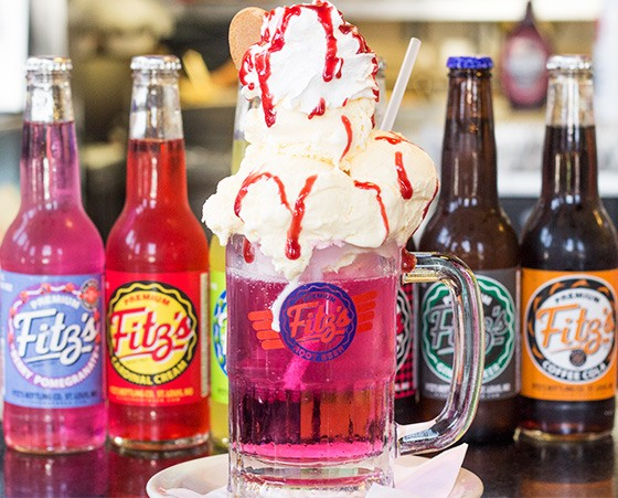"Fitz's ""Merry Berry"" float with Berry Pomegranate pop. 