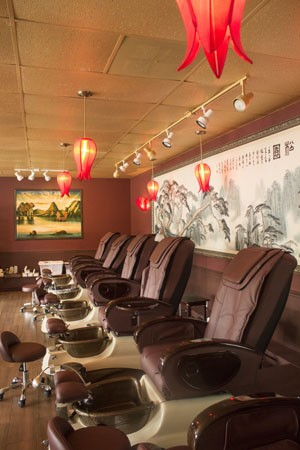 The pedicure stations at Red Lotus. - MABEL SUEN