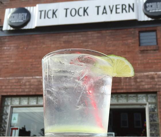 A simple gin rickey taken al fresco at Tick Tock.   Patrick J. Hurley