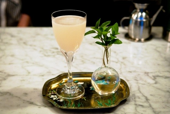 """The Bailey"" cocktail  at Olio 