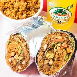 A Taco Circus burrito, in glorious crossection. - MABEL SUEN
