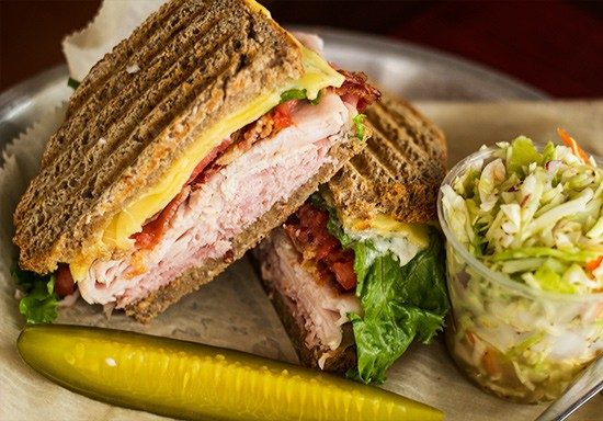 A full menu of sandwiches, including this turkey club, are also available at Grove East Provisions.