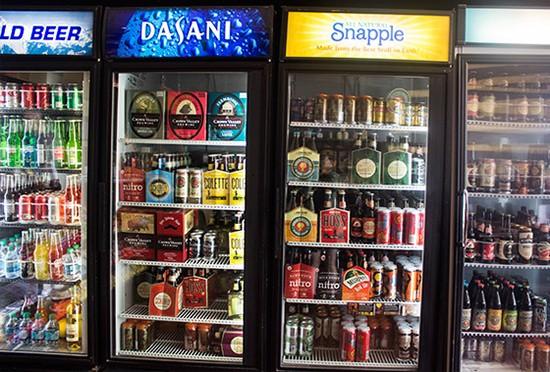 Drink options aplenty.