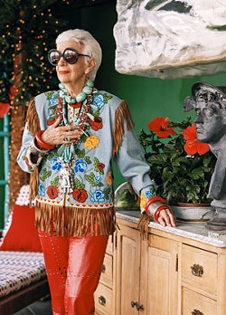 Iris Apfel shines in Maysles' final picture. - BRUCE WEBER