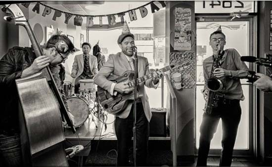 Catch Tommy Halloran's Guerrilla Swing at the 2015 RFT Music Showcase: HandleBar at 7 p.m. - PHOTO BY DAN COSTELLO.