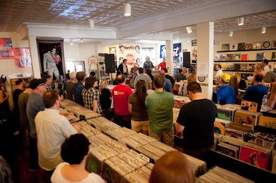 Euclid Records celebrates national Record Store Day this year with a full weekend of live performances Friday through Sunday. See more photos from last year's festivities in RFT Slideshows. - PHOTO BY JON GITCHOFF