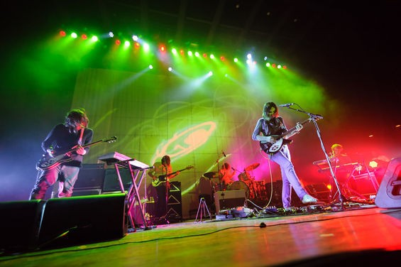 Tame Impala returns to St. Louis tonight with openers Kuroma. See more photos from its 2013 concert at the Pageant in RFT Slideshows. - PHOTO BY JASON STOFF