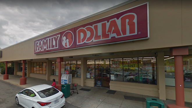 The Breckenridge Hills Family Dollar where police say the attack took place. - VIA GOOGLE MAPS