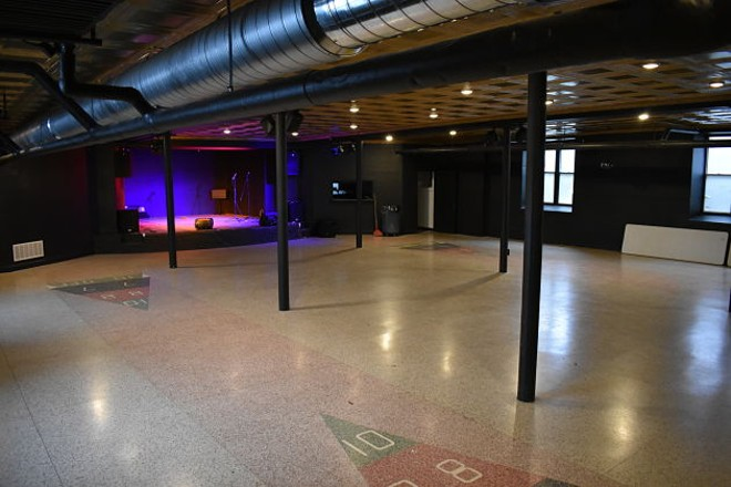 The basement space where shows will be held. - DANIEL HILL
