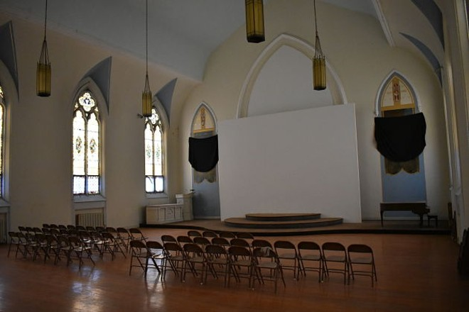The church's main floor, which Wigfall says will serve as a de facto community center. - DANIEL HILL