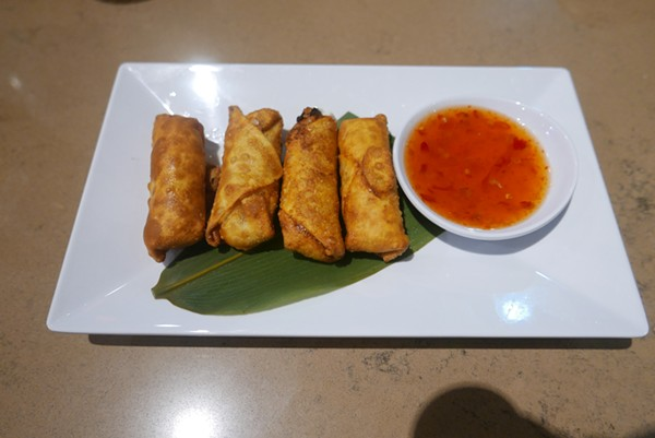 The crab rangoon uses real blue crab meat and is creamy and full of flavor. - DESI ISAACSON