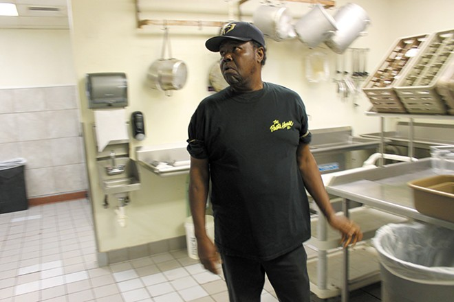 """""""He's a good guy, works hard,"""" says chef Paul Reynolds of Marzette. - ERIC BERGER"""