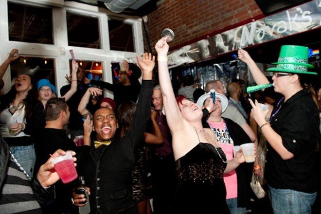 Revelers ring in the New Year at Novak's. - JON GITCHOFF