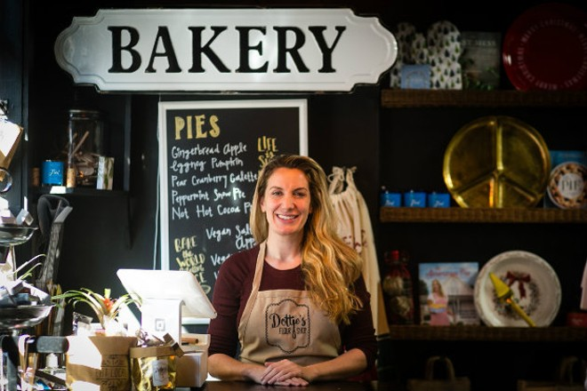 Dottie Silverman left behind a successful career in law to follow her passion at Dottie's Flour Shop. - JEN WEST