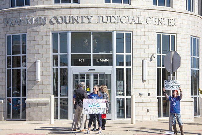 "Kallen and their supporters protested the plea deals that two judges deemed ""too lenient."" - DANNY WICENTOWSKI"