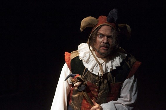 Rigoletto has problems at work and at home. - (C) UNION AVENUE OPERA AND JOHN LAMB
