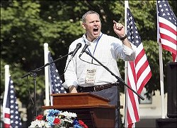 Hennessy at a Tea Party rally in Quincy, Illinois, last September. - WHIG.COM