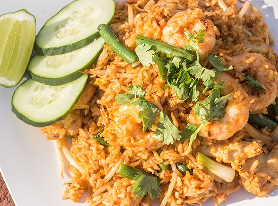 A recent addition to the Pearl Cafe menu: Sriracha fried rice.   Photos by Mabel Suen