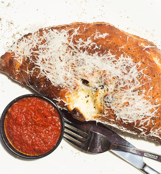 "Sauce on the Side's ""Figgy Piggy"" calzone. 