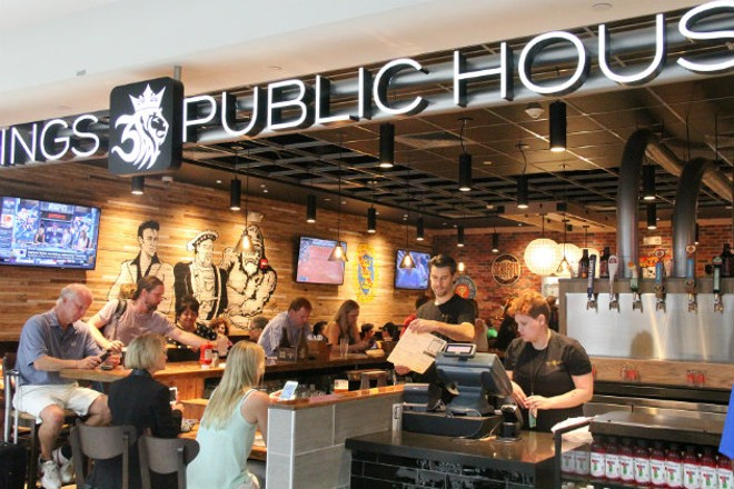 Three Kings Public House is one of the best airport bars in the country. - COMPLIMENTS OF ST. LOUIS LAMBERT INTERNATIONAL AIRPORT