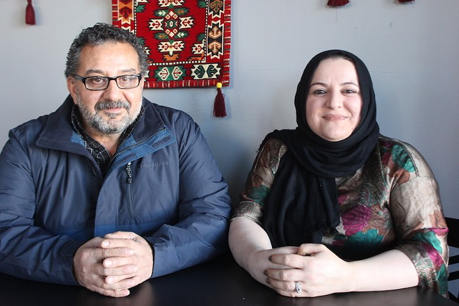 Husband-and-wife Akram Saeed and Jenar Mohammed own the restaurant. - SARAH FENSKE