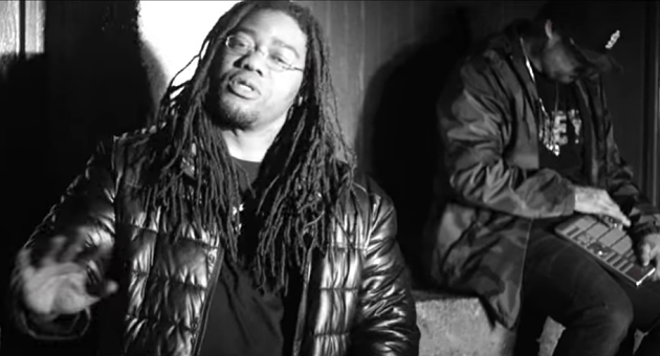 Veeno Gunna, left, with St. Louis super-producer Jay E. - VIDEO SCREENSHOT
