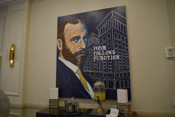 Portraits of notable St. Louisans, including this one of architect Louis Sullivan, were painted by local Fern Taylor. - TOM HELLAUER