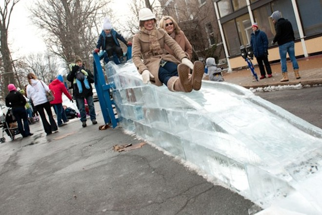 Stay frosty at the Loop Ice Carnival. - JON GITCHOFF
