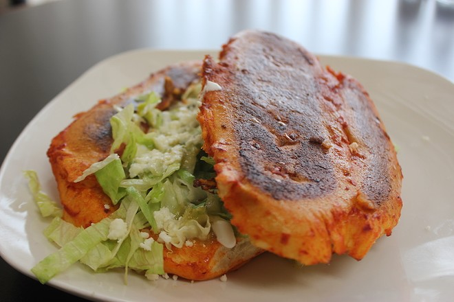 Sol Azteca's pambazo is a tasty alternative to a torta. - SARAH FENSKE