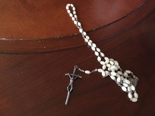 The pope-gifted rosary. - SARAH FENSKE