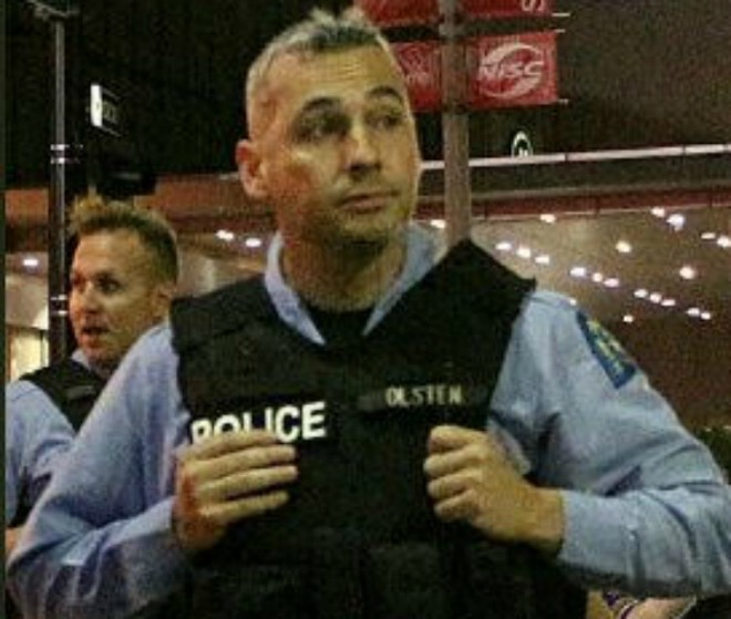 Officer William Olsten has been charged with assault tied to an April 2018 bar shooting. - COURTESY HEATHER DE MIAN