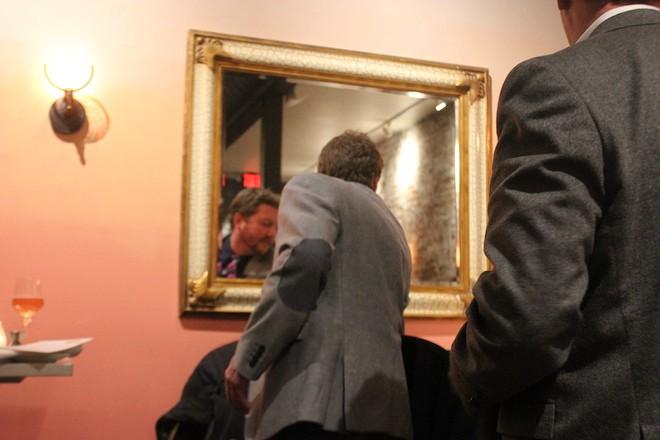 Restaurateur Dave Bailey unveils the new pink walls on his new concept, Pop. - SARAH FENSKE