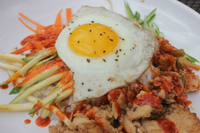 Bibimbap with chicken (beef is also an option) at Fleur de Lilies. - PHOTO BY SARAH FENSKE